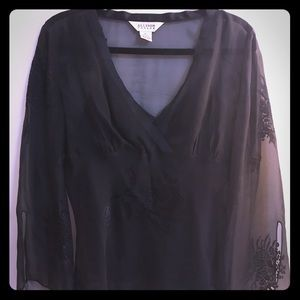 Black silk blouse with Cami